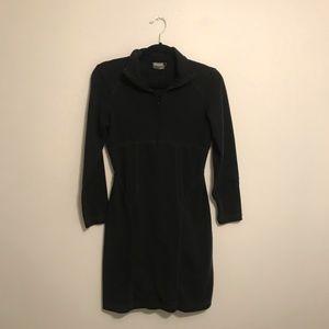 Athleta Black Collar Dress with Zipper